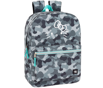 """Hello Kitty Camouflage Laptop Backpack 15.6 """"- 43 cm"""