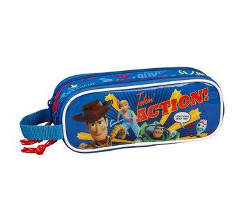 Toy Story Takin 'Action! trousse avec deux fermetures à glissière 21 x 8 cm