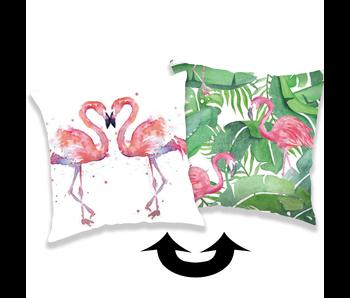 Flamingo Kissen Pailletten 40 x 40 cm