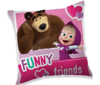 Masha en de Beer Friends Cushion 40 x 40 cm