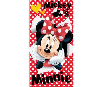 Disney Minnie Mouse Serviette de plage rouge 70x140cm