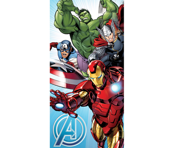 Marvel Avengers Serviette de plage bleue 70x140cm