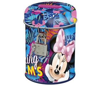 Disney Minnie Mouse Tirelire printemps paumes 11,5 cm