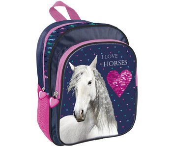 Animal Pictures Love Horses Toddler Backpack 30 cm