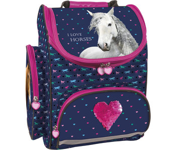 Animal Pictures Love Horses Ergonomic Backpack 36 cm