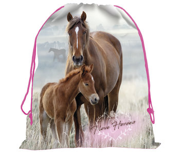 Animal Pictures Horse and Foal Gymbag 42 cm