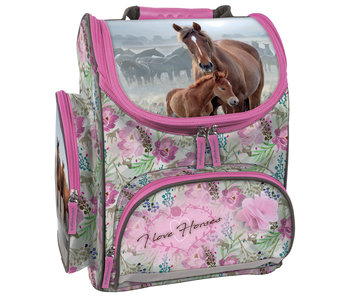Animal Pictures Horse and Foal Ergonomic Backpack 36 cm