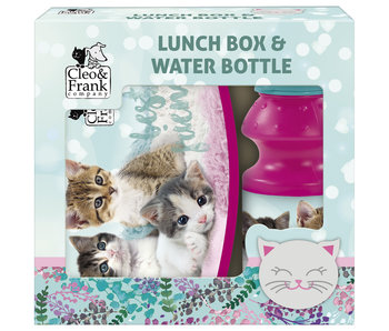 Cleo & Frank Set Lunchbox + Bottle Pussies