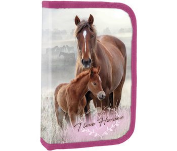 Animal Pictures Filled Horse and Foal Pouch