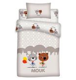 Mouk Friends - Baby Dekbedovertrek - 100 x 140 + 60 x 40 cm - Multi
