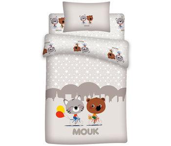 Mouk Housse de couette bébé Friends 100x140 + 60x40cm