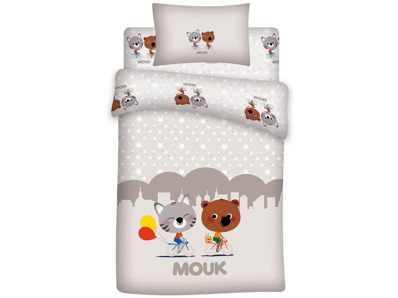 Mouk Friends - Baby Bettbezug - 100 x 140 + 60 x 40 cm - Multi