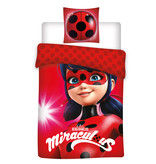 Miraculous Face - Duvet cover - Single - 140 x 200 cm - Red