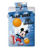 Disney Mickey Mouse Slam Dunk - Duvet cover - Single - 140 x 200 cm - Blue