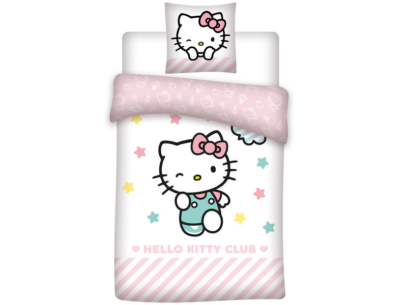 Hello Kitty Club - Dekbedovertrek - Eenpersoons - 140 x 200 cm - Multi