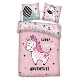 Zebra Adventure - Duvet cover - Single - 140 x 200 cm - Pink