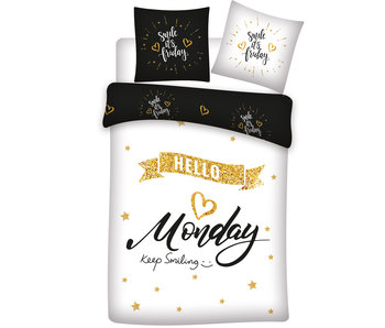 Monday Duvet cover Keep Smiling 140x200 cm