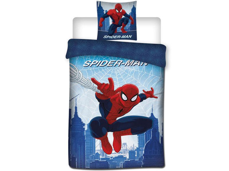 SpiderMan Jump - Dekbedovertrek - Eenpersoons - 140 x 200 cm - Multi