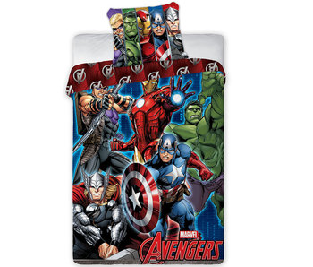 Marvel Avengers Dekbedovertrek Schild Eenpersoons 140 x 200 cm