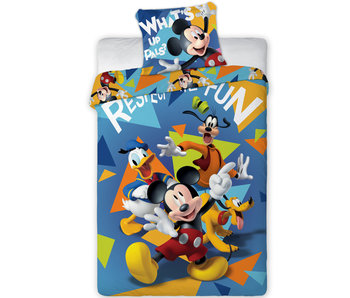 Disney Mickey Mouse Housse de couette Fun 140 x 200 cm - Polyester