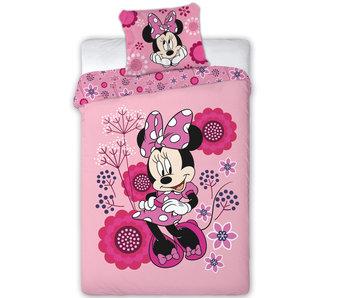 Disney Minnie Mouse Dekbedovertrek Flowers 140x200 cm