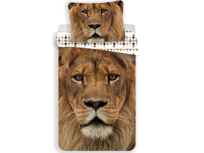 Animal Pictures Lion - Duvet cover - Single - 140 x 200 cm - Multi