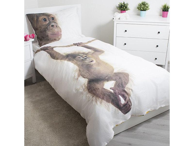 Animal Pictures Orang Oetan - Dekbedovertrek - Eenpersoons - 140 x 200 cm - Multi