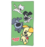 Woezel & Pip Play Green - Beach Towel - 75 x 150 cm - Multi