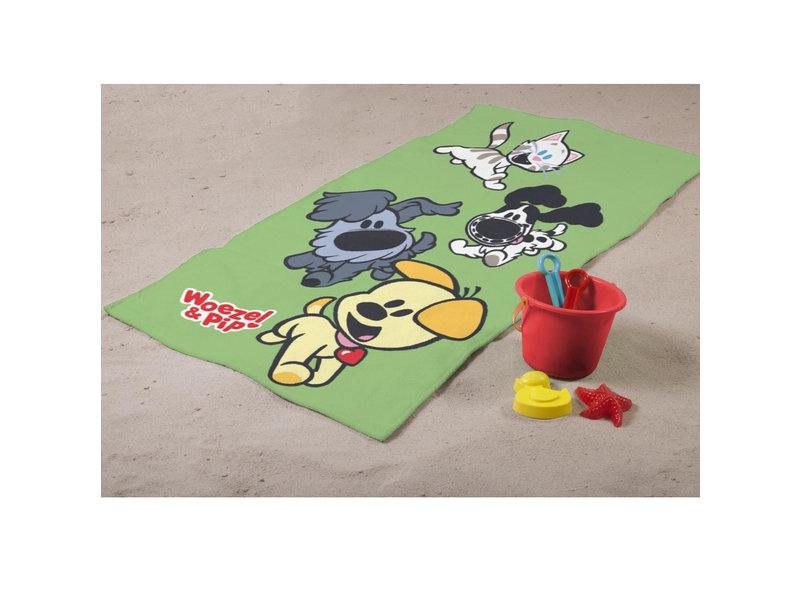 Woezel & Pip Play Green - Strandtuch - 75 x 150 cm - Multi