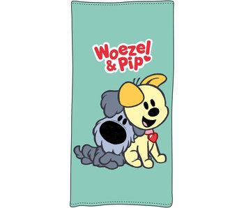 Woezel & Pip Strandlaken Friends 75x150
