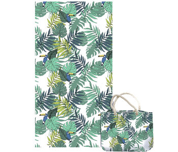 Matt & Rose Beach towel + Toucan beach bag