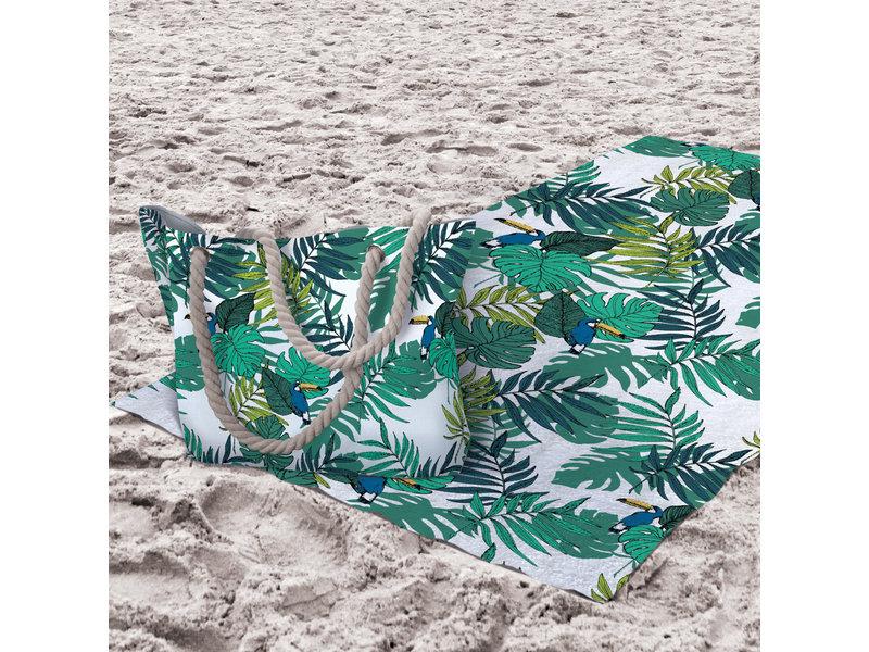 Matt & Rose Toucan - Serviette de plage + Sac de plage - Multi