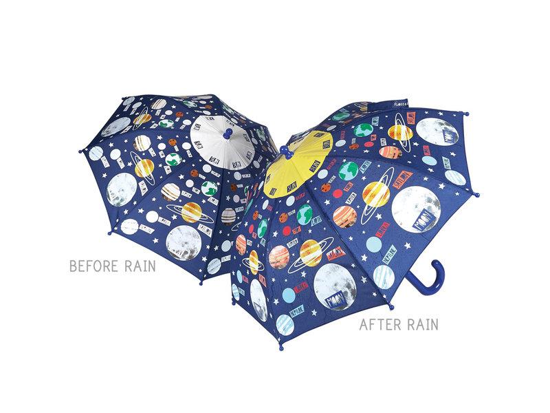 Floss & Rock Planeten - Regenschirm - Ändert die Farbe!