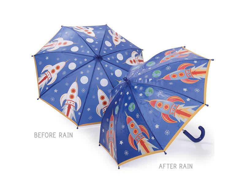 Floss & Rock Raket - Paraplu - Verandert van kleur!