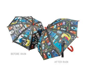 Floss & Rock Farbwechselnde Regenschirm Monster