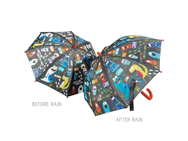Floss & Rock Monster - Farbwechselnde Regenschirm - Ändert die Farbe!