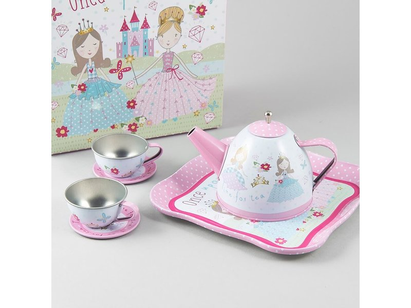 Floss & Rock Princess - Pewter tea set - 7 pieces - Multi