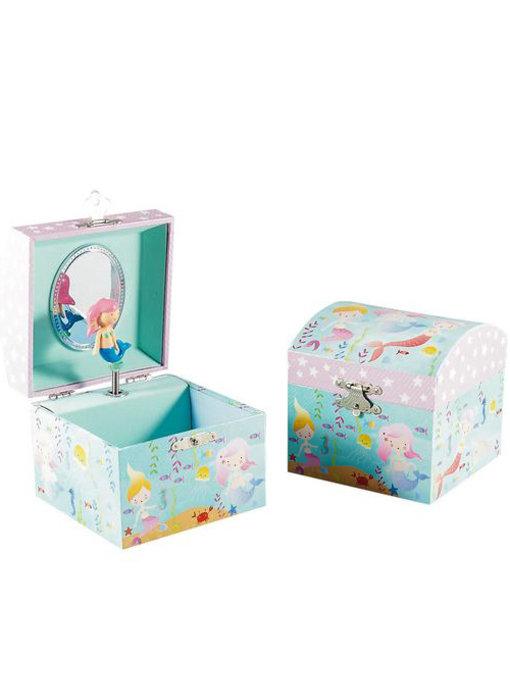 Floss & Rock Mermaid Music / Jewelry box - 10.5 x 10.5 x 10.2 cm