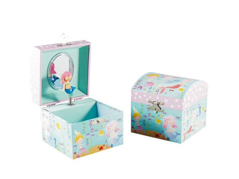 Floss & Rock Mermaid Music / Jewelry box - 10.5 x 10.5 x 10.2 cm - Multi