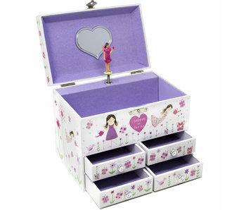 Floss & Rock Boîte à bijoux Fairy Blossom - 19 x 12 x 14,5 cm