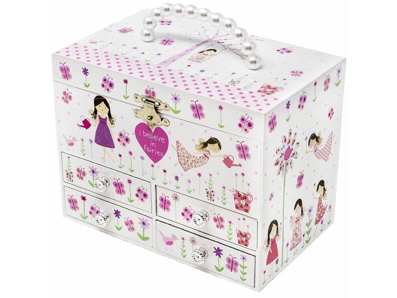 Floss & Rock Boîte à bijoux Fairy Blossom - 19 x 12 x 14,5 cm - Multi
