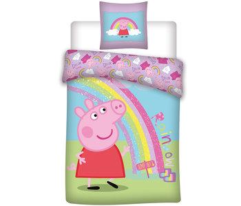 Peppa Pig Bettbezug Regenbogen 140 x 200 cm