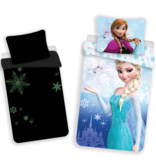 Disney Frozen Glow in the Dark - Housse de couette - Seul - 140 x 200 cm - Bleu