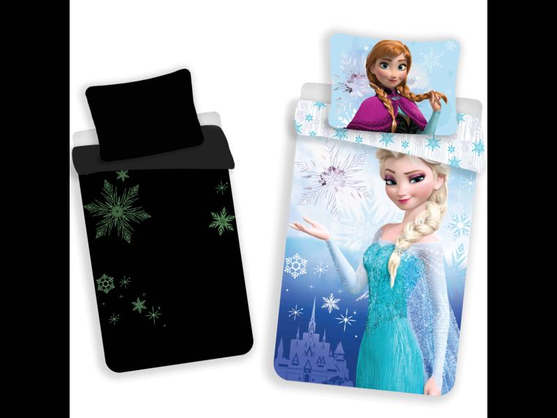 Disney Frozen Glow in the Dark - Dekbedovertrek - Eenpersoons - 140 x 200 cm - Blauw