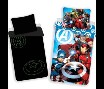 Marvel Avengers Enveloppe de couette Glow in the Dark 140x200 cm
