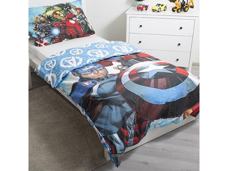 Marvel Avengers Glow in the Dark - Duvet cover - Single - 140 x 200 cm - Multi