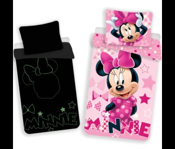 Disney Minnie Mouse Bettbezug Glow in the Dark 140x200 cm