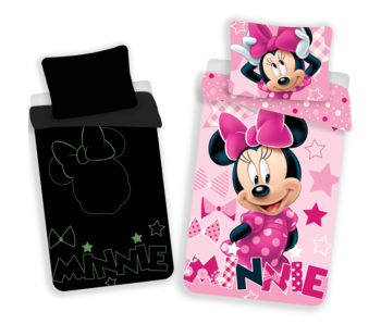 Disney Minnie Mouse Housse de couette Glow in the Dark 140x200 cm