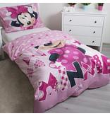 Disney Minnie Mouse Glow in the Dark - Bettbezug - Einzel - 140 x 200 cm - Pink