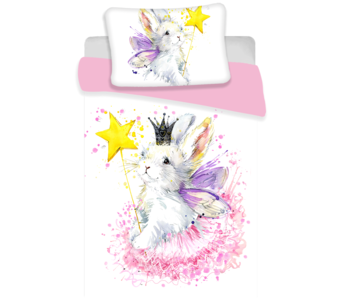 Animal Pictures Baby duvet cover Bunny White 100x135 cm
